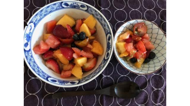 大江屋レシピ(38) 「桃のサラダ」の巻