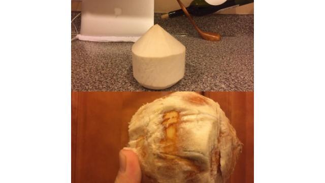 ココナッツウオーター飲も