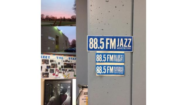 朝日浴びながらラジオ局です。
