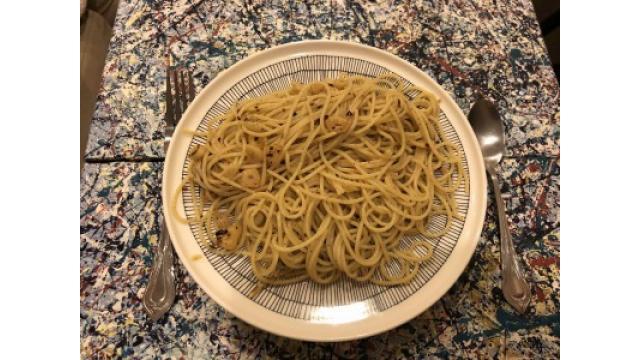 昨晩ペペロンチーノ作りました!
