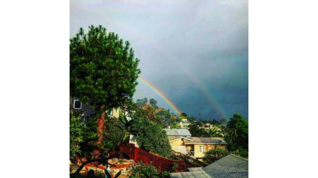 ダブルの虹!
