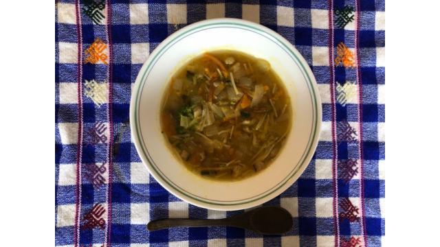 大江屋レシピ(103) 「かぼちゃとタマネギのほっこりスープ」の巻