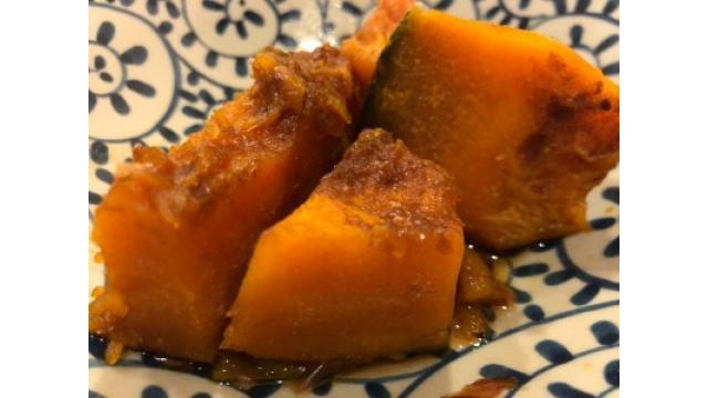 大江屋レシピ(105)「花かつおかぼちゃの煮っころがし」の巻