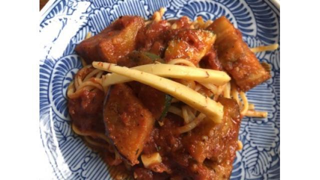 大江屋レシピ (111) 「おおぶりナスとズッキーニのアラビアータ」の巻