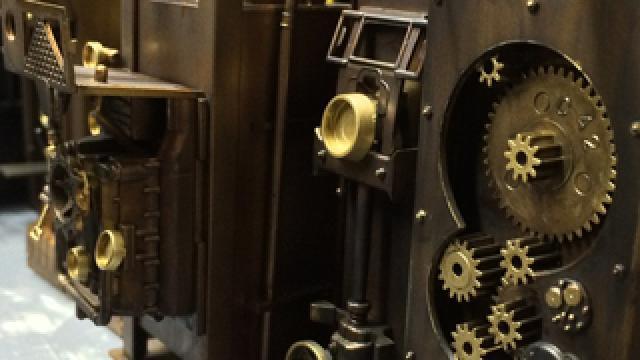 ジオラマに金属色を塗装する方法を紹介!|スチームパンク造形日記vol.21