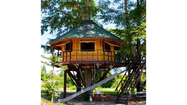 【大人の隠れ家】北海道の広大な自然と一体になった隠れ家ツリーハウス「三部牧場」を紹介!