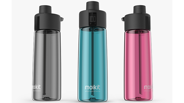 スマホと連動するボトル『Moikit GENE』で日々の水分補給を管理!