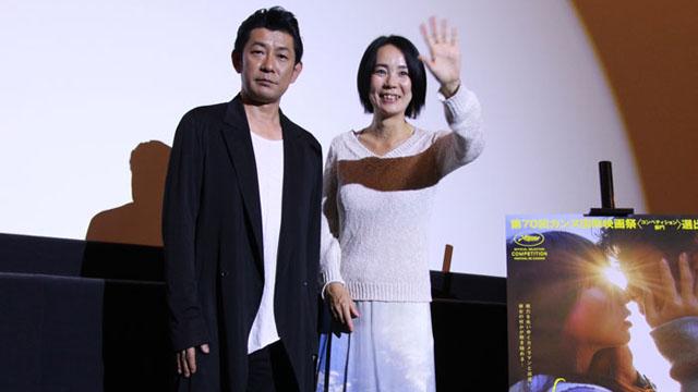 永瀬正敏、河瀬直美監督が登壇!映画『光』大阪舞台挨拶レポ