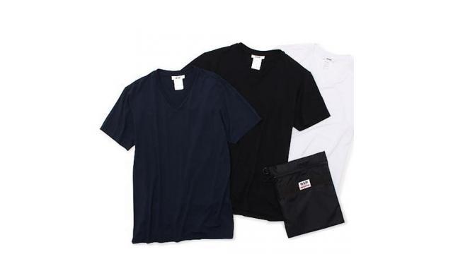 消臭機能付きのシャツとポーチがセットになったトラベルキットが発売!