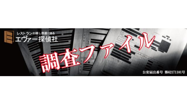エヴァー探偵社~調査ファイル~Vol.13