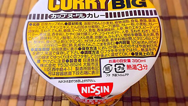 【1年1000カレー】1月25日 カップヌードル カレーBIG/NISSIN【No. 103/1,000】