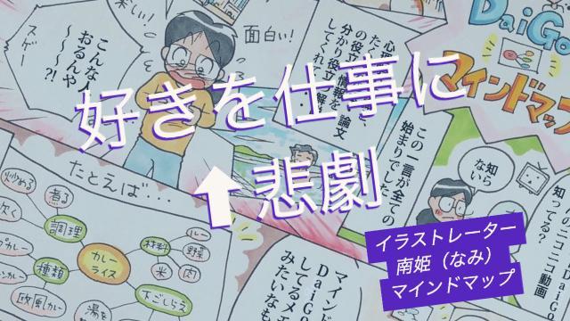 「好きを仕事にすると起きる【悲劇】」イラストレーター南姫のマインドマップ