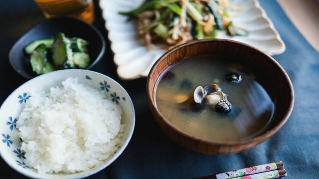 【20190515】しじみの味噌汁とお漬物