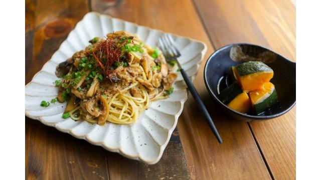 【20190717】和風ツナパスタとかぼちゃの煮物