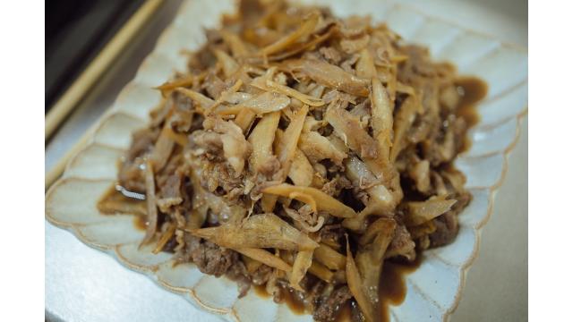 【20191212】牛肉とごぼうのしぐれ煮