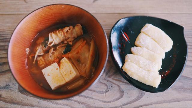 【20210126】キムチ鍋・バター餅
