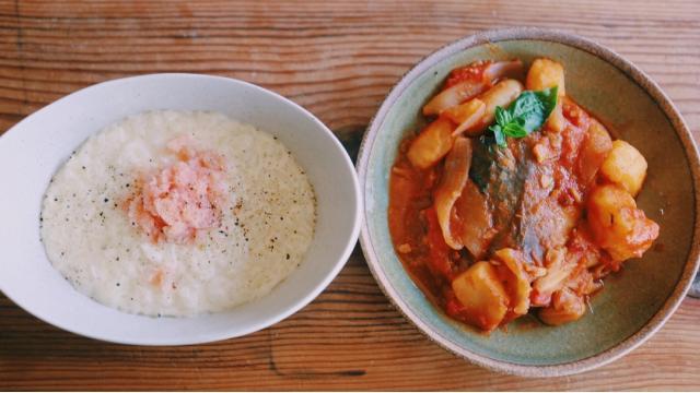 【20210721】サバのトマト煮・明太リゾット