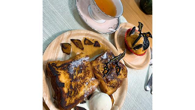 #2カボチャ飾りのフレンチトースト