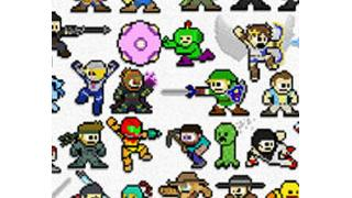 ゲームキャラいえるかな? 375体のゲームキャラを『ロックマン』風ドット絵にしたポスター