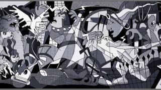 どのキャラがどこにいるかわかりますか? 『X-メン』が紛れ込んだピカソの『ゲルニカ』