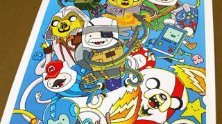 アメリカのシュールなアニメ風にデフォルメされた色々なゲームキャラ達
