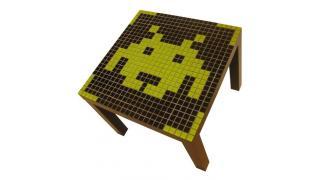 『スペースインベーダー』の可愛いドット絵テーブル