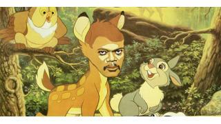 もしタランティーノがディズニーの名作をサミュエル・L・ジャクソン主演でリメイクしたら...なポスター