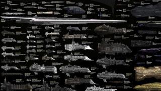 有名SF艦船を網羅! 各種宇宙船のサイズ比較チャート