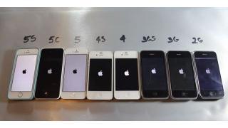 歴代iPhoneを並べて一斉にスピードテスト。5sが欲しくなる危険な結果に