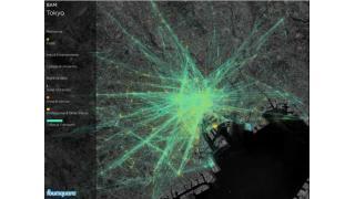 東京、NY、ロンドンetc...主要都市の1日が位置データで美しく丸見えに
