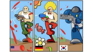 ジョークイラスト:お国別ローカライズ事情