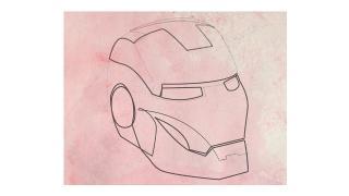 『アイアンマン』から『もののけ姫』まで、名キャラクターを一筆書きで描いてみた