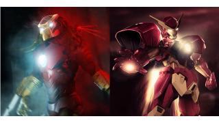 ガンダムやプレデターと合体! アイアンマンを有名キャラクターとマッシュアップしたイラスト