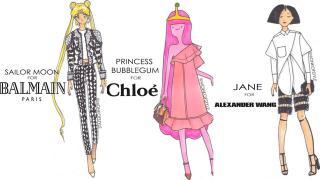 もしセーラームーンなどのアニメキャラがブランド服を着こなしたら