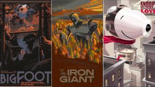 スピルバーグも購入した『ジョーズ』、『鉄人28号』などのレトロフューチャーな映画ポスター