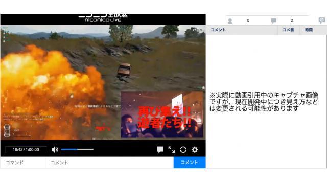 【ニコニコ生放送】新配信に関するご報告