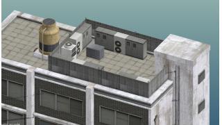 進捗:ビルモデルがひととおり