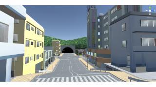 ゲーム用の町モデルを作ってました