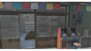 町モデル進捗:居酒屋と駄菓子屋の内装