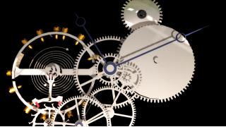 ほぼフル可動懐中時計進捗状況 -リュウズのゼンマイ巻き上げ機構-