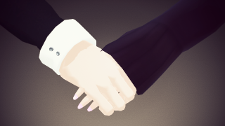 MMDで(すこし楽に)手をつなごう。