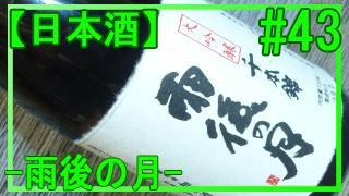 【酒】第43回 酒の味もわからないクセに『雨後の月大吟醸 千本錦』を飲るという話し。【日本酒】