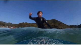 サーフィン初心者 小波だからトライできる課題を練習する。 (267回目)