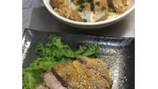 豚カツとかつ丼の組み合わせ【管理栄養士の朝食】
