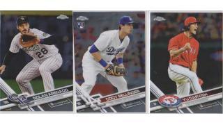 MLB Topps Chrome Jumbo 2017 1Box 開封