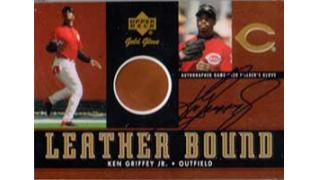 UpperDeck 2001 Gold Glove Leather Bounds Autograph
