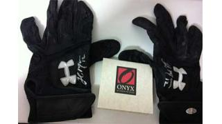 MLB Onyx Clubhouse Collection Game Used Batting Glove 2014 1Box 開封