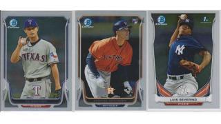 MLB Bowman Chrome Jumbo 2014 1Box 開封