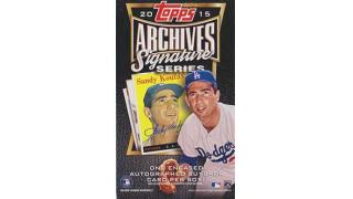 MLB Topps Archives Signature 2015 2Box 開封