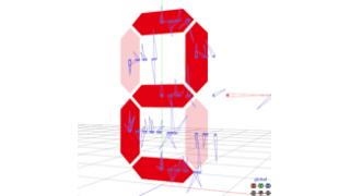 # 0603_MMDでボーン回転を7セグディスプレイに変換する機構